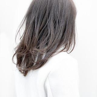 レイヤースタイル セミロング レイヤーカット レイヤーヘアー ヘアスタイルや髪型の写真・画像