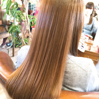 トリートメント 縮毛矯正 パーマ ナチュラル ヘアスタイルや髪型の写真・画像
