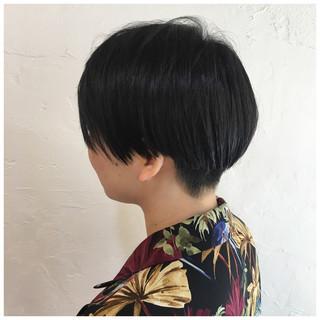 ショートヘア ハンサムショート 春ヘア 黒髪 ヘアスタイルや髪型の写真・画像