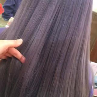 パープル グラデーションカラー アッシュグラデーション ストリート ヘアスタイルや髪型の写真・画像