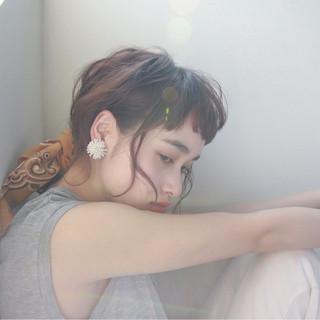 ラフ ヘアアレンジ ストリート ウェーブ ヘアスタイルや髪型の写真・画像 ヘアスタイルや髪型の写真・画像