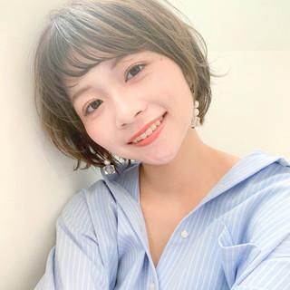 小顔ショート 大人かわいい ショートボブ ショート ヘアスタイルや髪型の写真・画像