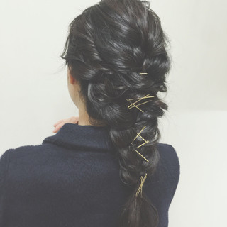 ハーフアップ ヘアアレンジ ショート ゆるふわ ヘアスタイルや髪型の写真・画像 ヘアスタイルや髪型の写真・画像
