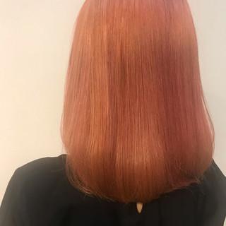 ピンク ガーリー デート ピンクブラウン ヘアスタイルや髪型の写真・画像