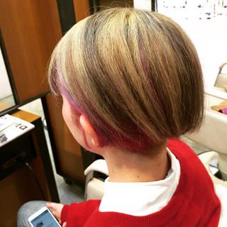 モード 外国人風カラー 個性的 ショートボブ ヘアスタイルや髪型の写真・画像