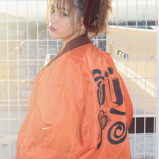 ミディアム 簡単ヘアアレンジ ピュア ショート ヘアスタイルや髪型の写真・画像 ヘアスタイルや髪型の写真・画像