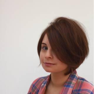 ショートボブ ストリート ショート 大人女子 ヘアスタイルや髪型の写真・画像