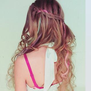 外国人風 ストリート 編み込み かわいい ヘアスタイルや髪型の写真・画像