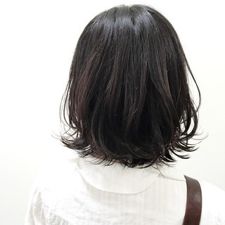 ストリート 黒髪 ボブ ウェットヘア ヘアスタイルや髪型の写真・画像