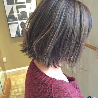色気 ストリート ボブ ハイライト ヘアスタイルや髪型の写真・画像 ヘアスタイルや髪型の写真・画像