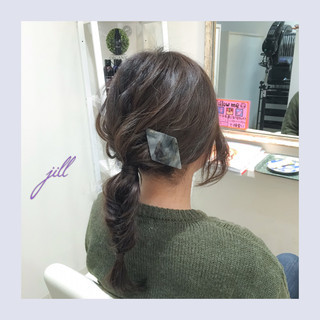 ヘアアレンジ 簡単ヘアアレンジ バレッタ ショート ヘアスタイルや髪型の写真・画像 ヘアスタイルや髪型の写真・画像
