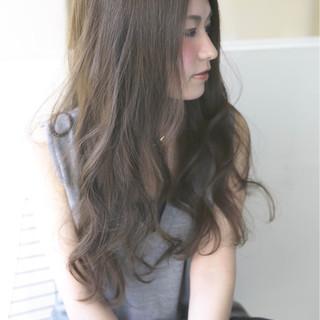 ロング 愛され モテ髪 アッシュ ヘアスタイルや髪型の写真・画像