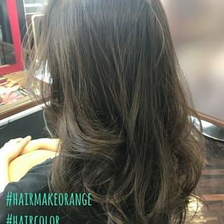 ブルーアッシュ エレガント 秋 上品 ヘアスタイルや髪型の写真・画像