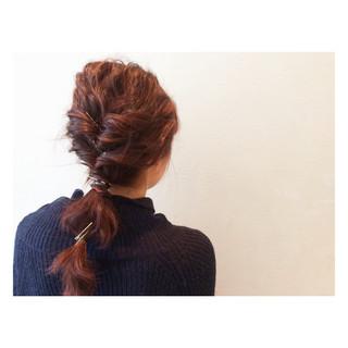ヘアアレンジ 簡単ヘアアレンジ ショート グラデーションカラー ヘアスタイルや髪型の写真・画像