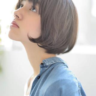 マッシュ ショートヘア 黒髪 ナチュラル ヘアスタイルや髪型の写真・画像