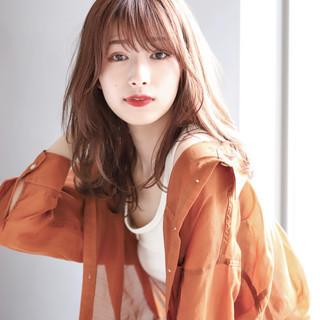 透明感カラー モテ髪 モテ髮シルエット ナチュラル ヘアスタイルや髪型の写真・画像