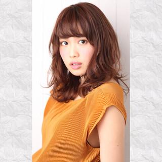 ガーリー ミディアム フェミニン 大人かわいい ヘアスタイルや髪型の写真・画像