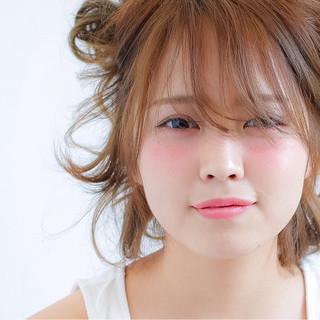 ヘアアレンジ ハーフアップ フェミニン 簡単ヘアアレンジ ヘアスタイルや髪型の写真・画像