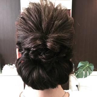 編み込み ツイスト ヘアアレンジ くるりんぱ ヘアスタイルや髪型の写真・画像 ヘアスタイルや髪型の写真・画像