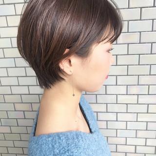 ハンサムショート 簡単ヘアアレンジ ベリーショート ショートボブ ヘアスタイルや髪型の写真・画像
