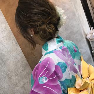 和装 ナチュラル ロング アップスタイル ヘアスタイルや髪型の写真・画像