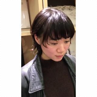 ナチュラルウルフ モード ニュアンスウルフ ミディアム ヘアスタイルや髪型の写真・画像