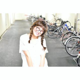 ショート セミロング 簡単ヘアアレンジ 秋 ヘアスタイルや髪型の写真・画像