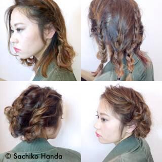 ミディアム ストリート 卵型 三つ編み ヘアスタイルや髪型の写真・画像