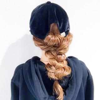 上品 アウトドア ロング 簡単ヘアアレンジ ヘアスタイルや髪型の写真・画像