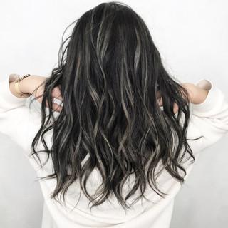 グレージュ ヘアアレンジ ロング 外国人風カラー ヘアスタイルや髪型の写真・画像