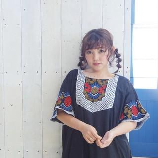 デート ヘアアレンジ ミディアム 春スタイル ヘアスタイルや髪型の写真・画像