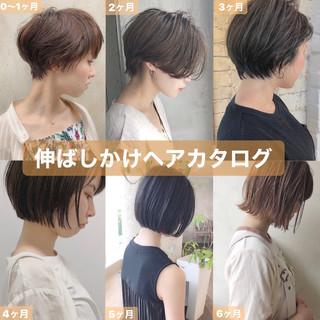 ベリーショート ショートヘア ショートボブ ナチュラル ヘアスタイルや髪型の写真・画像
