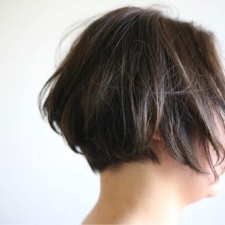 ヘアアレンジ 前下がり ショート くせ毛風 ヘアスタイルや髪型の写真・画像 ヘアスタイルや髪型の写真・画像