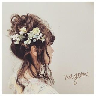 フェミニン ゆるふわ 外国人風 簡単ヘアアレンジ ヘアスタイルや髪型の写真・画像