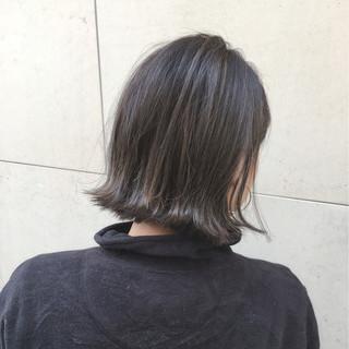 ナチュラル ボブ こなれ感 外ハネ ヘアスタイルや髪型の写真・画像
