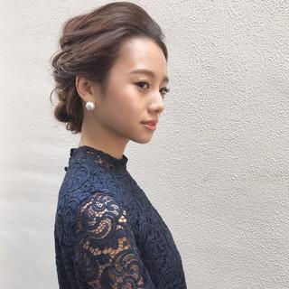 結婚式 上品 ヘアアレンジ ブライダル ヘアスタイルや髪型の写真・画像