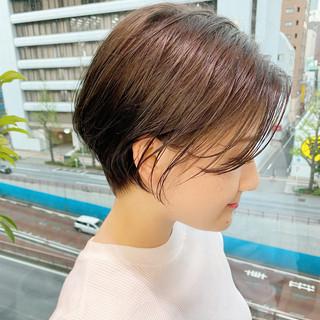 ショートヘア ショートボブ ショート ゆるふわ ヘアスタイルや髪型の写真・画像