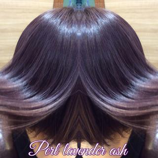 ボブ 透明感カラー ナチュラル可愛い ガーリー ヘアスタイルや髪型の写真・画像