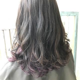 インナーカラー アッシュ 透明感 ハイライト ヘアスタイルや髪型の写真・画像