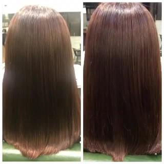 ミディアム ナチュラル 縮毛矯正 艶髪 ヘアスタイルや髪型の写真・画像