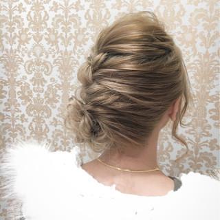 外国人風 セミロング ショート 結婚式 ヘアスタイルや髪型の写真・画像