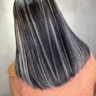 グラデーションカラー ミディアム ハイライト ナチュラル ヘアスタイルや髪型の写真・画像