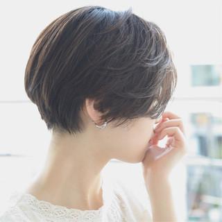 黒髪 モード 外国人風 ベリーショート ヘアスタイルや髪型の写真・画像