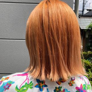 ストリート ボブ ダブルカラー 切りっぱなしボブ ヘアスタイルや髪型の写真・画像