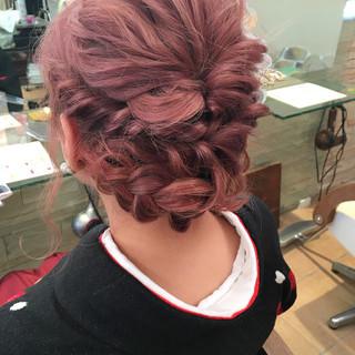 ミディアム 波ウェーブ ガーリー 袴 ヘアスタイルや髪型の写真・画像