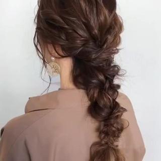 ロング アンニュイほつれヘア フェミニン ゆるナチュラル ヘアスタイルや髪型の写真・画像