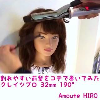 こなれ感 前髪パッツン エレガント 巻き髪 ヘアスタイルや髪型の写真・画像