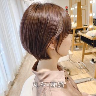 ショートヘア 小顔ショート ナチュラル ショート ヘアスタイルや髪型の写真・画像