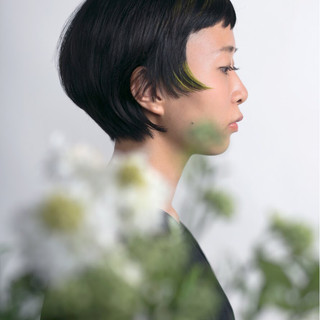 グラデーションカラー かっこいい ナチュラル モード ヘアスタイルや髪型の写真・画像