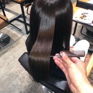 縮毛矯正 ナチュラル ツヤ髪 髪質改善 ヘアスタイルや髪型の写真・画像